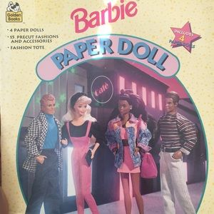 1994 Barbie Paper Doll Book By Golden Books